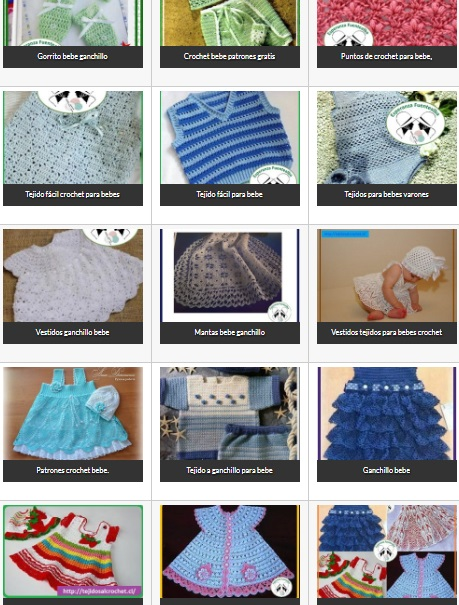 Bebe crochet. Selección de ropita para bebé en crochet. Esquemas