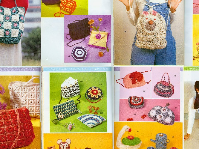 Linda colección de bolsos al crochet con patrones ⋆ Crochet Patrones