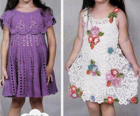 Diseños de vestidos de niña en crochet - Crochet Patrones
