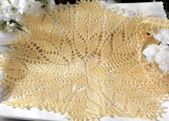 Esquema tapete crochet pequeño tipo estrella - Crochet Patrones