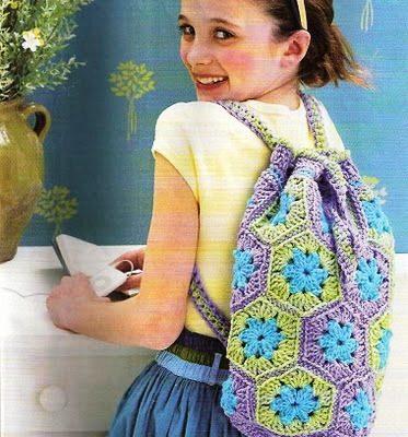 Mochila crochet para niñas - Crochet Patrones