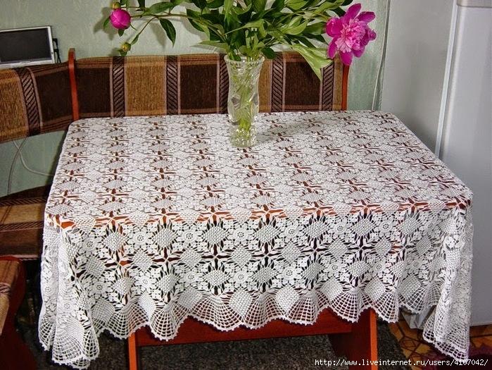 Patrón Mantel de crochet con grany - Crochet Patrones