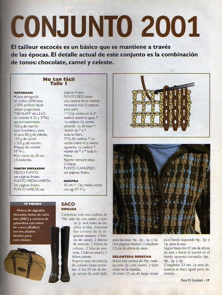 Esquemas ropa en crochet de invierno ⋆ Crochet Patrones