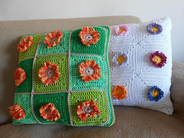 Almohada girasol crochet con patrones - Crochet Patrones