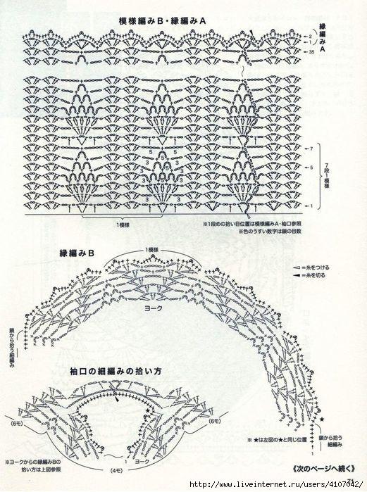 Blusa crochet piña con patrones ⋆ Crochet Patrones