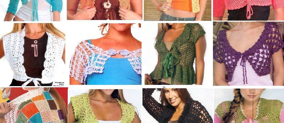 Boleros tejidos con ganchillo patrones gratis - Crochet Patrones