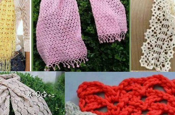 Bufandas y estolas con patrones ✨ESPECTACULARES✨