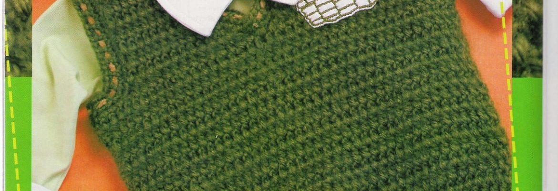 Chaleco crochet bebe sin mangas con esquemas - Crochet Patrones