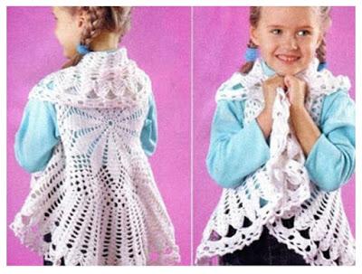 Crochet bolero niña con patrón - Crochet Patrones