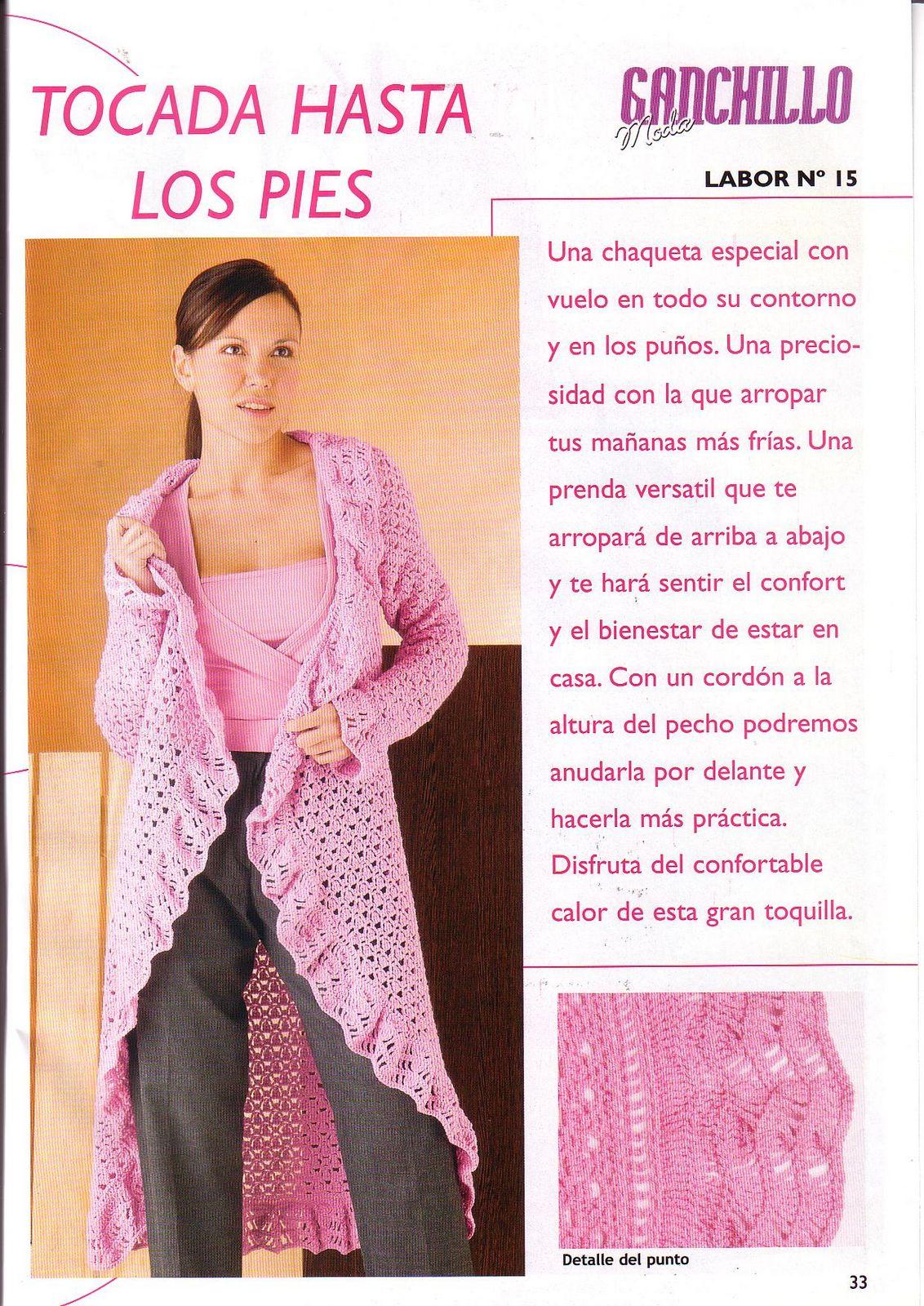 Atractivo Crochet Patrón De La Chaqueta Del Cordón Patrón - Ideas de ...