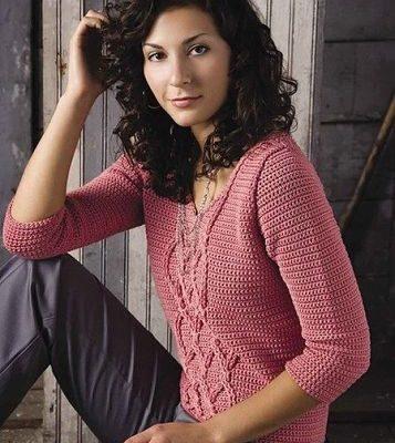 Novedoso diseño chaleco en crochet con patrones - Crochet Patrones