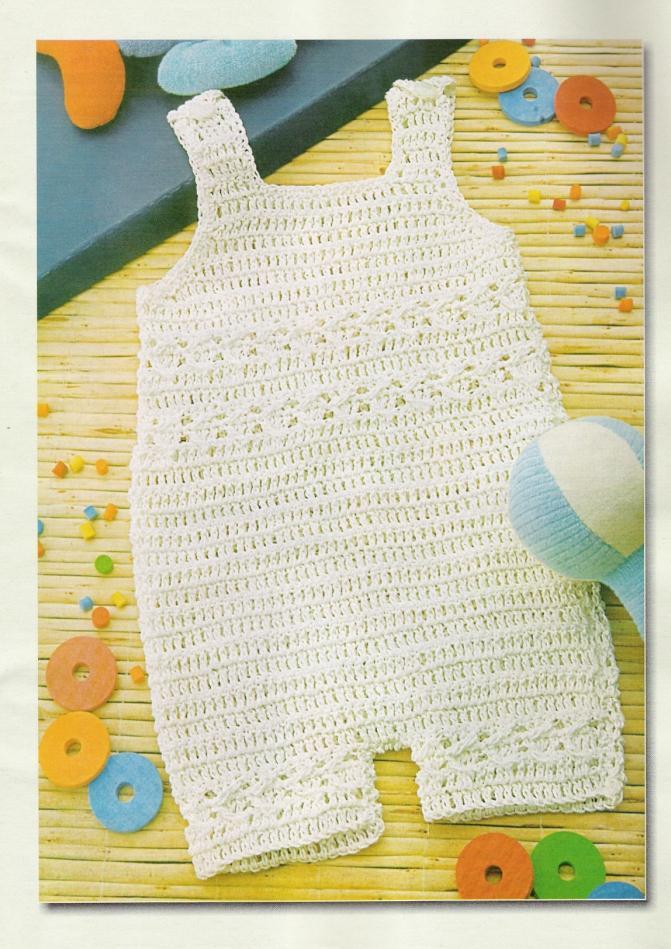 Sencillo enterito para bebe en crochet con patrón ⋆ Crochet Patrones