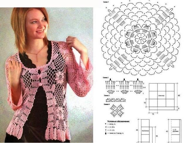 Colección de blusas tejidas al crochet con patrones ⋆ Crochet Patrones
