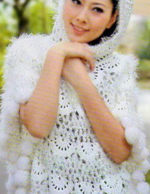 Poncho con capucha de ganchillo - Crochet Patrones