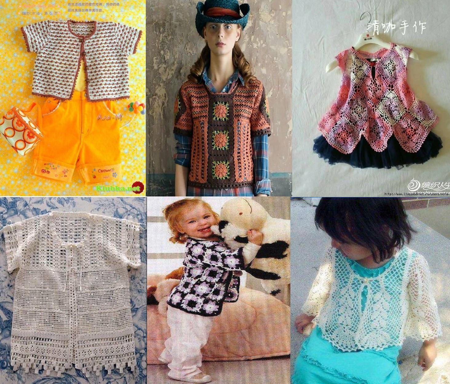 Selección de ropa de niña en crochet con patrones ⋆ Crochet Patrones
