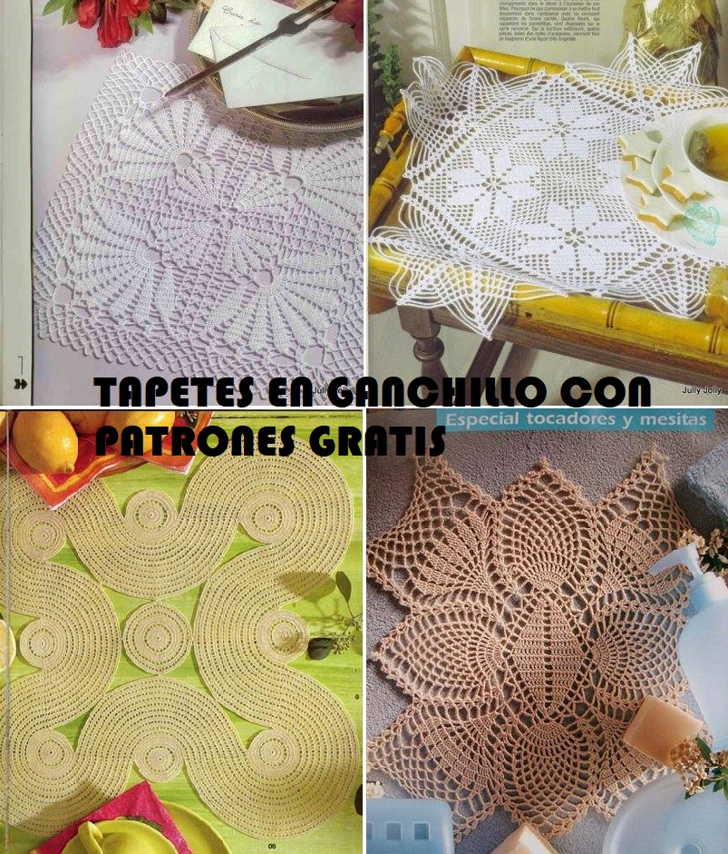▷ Ganchillo 【Esquemas crochet tapetes gratis 】