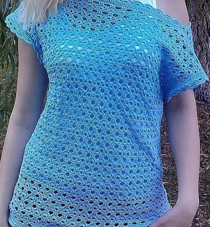 Blusa gancho manga simple ➤ EL ARTE DE TEJER ➤ Crochet Patrones