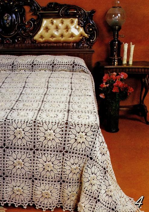 Colcha cuadros ganchillo ➤ EL ARTE DE TEJER ➤ Crochet Patrones