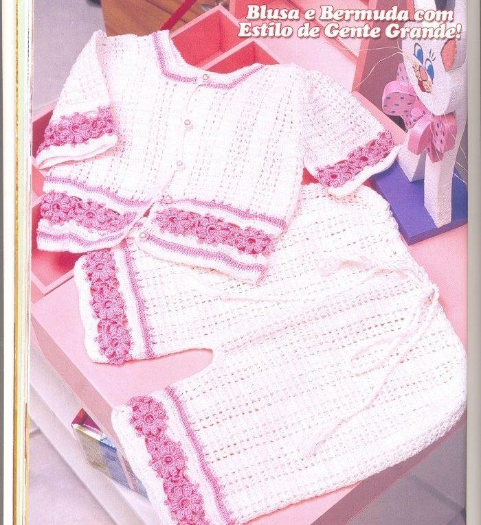 Ganchillo conjunto bebé ➤ EL ARTE DE TEJER ➤ Crochet Patrones