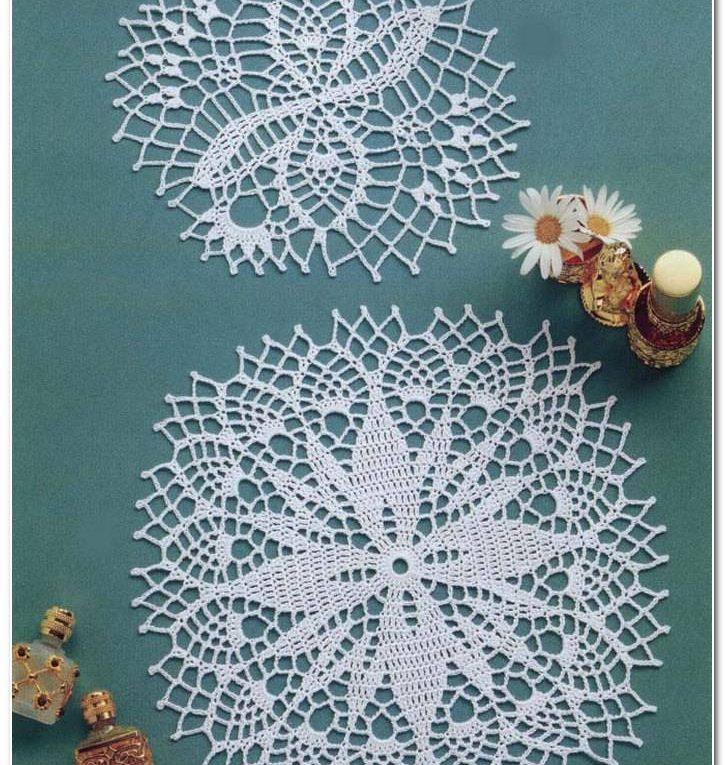 Mini servilletas crochet ➤ TEJER ES ARTE ➤ Crochet Patrones