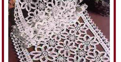 Patrones a crochet de manteles un dise o con grany muy - Centro de mesa a crochet ovalado ...