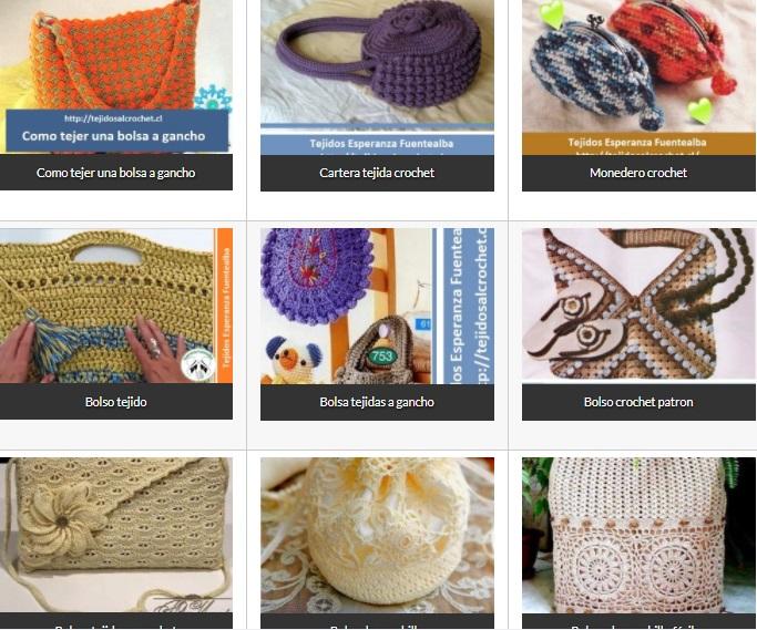 df2d78769 Bolsos Tejidos Crochet. Una selección de distintos modelos y diseños